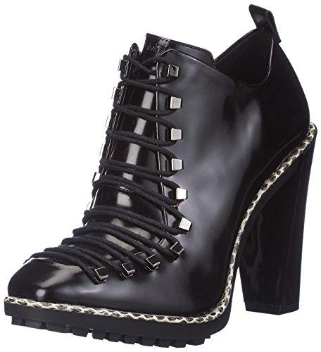 Calvin Klein - Ottoline Shiny Box Calf, Stivaletti da donna, nero (black), 37