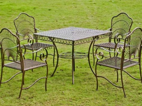 Iron Patio 5 Piece Dining Set image