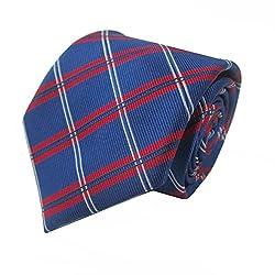 Rossini Men's Tie (UFAM11_Blue_Free Size)