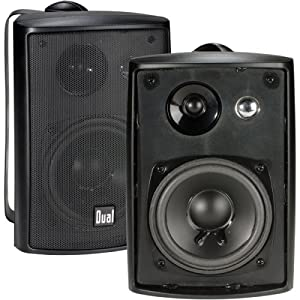 Dual LU43PB 3-way Indoor/Outdoor Speakers (Black)