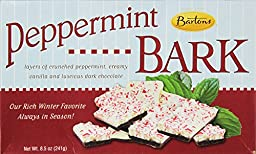 Bartons Gold Old Fashioned Peppermint Bark Dark Chocolate Holiday Candy, 8.5 oz (Pack of 2)