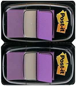Post-it Index Flags - Dual Pack 25mm - Purple (50 Flags x 2)