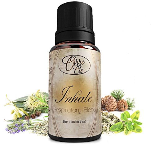 Inhale Respiratory Blend By Ovvio Oils - Promotes Seasonal Allergy, Sinus & Congestion Relief for Natural Breathing the Holistic Way - 100% Pure Aromatherapy Grade Essential Oils - Origin: France, Spain - (Comparable to Doterra Breathe, Young Living, Heal