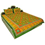 Jaipuri Pure Cotton 3 Piece Double Bed Sheet Bed Spread