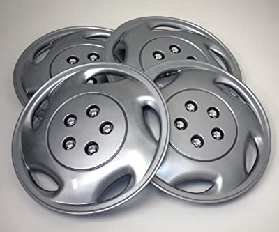 TuningPros WSC-941S15 Hubcaps Wheel Skin Cover 15-Inches Silver Set of 4