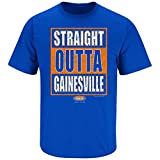 Florida Football Fans. Straight Outta Gainesville Royal Blue T-Shirt (S-5X) (X-large)