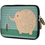 Amzer 7.75 Inch Neoprene Sleeve Cute Elephant For Samsung GALAXY Tab 2 7.0, Google Nexus 7, Amazon Kindle Fire...