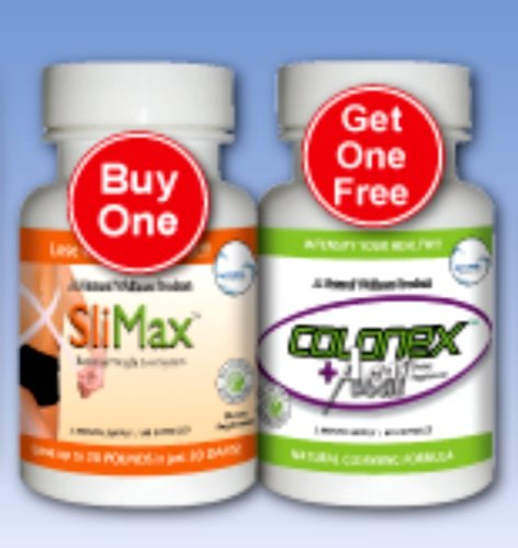 Slimax 750 Mg 60 Capsules With Free Colonex+Acai 750 Mg 60 Caps