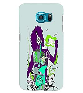 Fuson 3D Printed Designer back case cover for Samsung Galaxy S6 - D4578