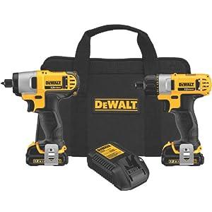 DEWALT DCK210S2 12-Volt Max Screwdriver/Impact Driver Combo Kit