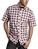 Timberland Men's Short Sleeve Printed Plaid Shirt