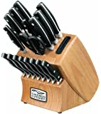 Chicago Cutlery Insignia2 18-Piece Knife Block Set with In-Block Knife Sharpener