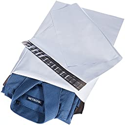 Metronic Poly Mailer Bags - 12x15.5 White Mailer Bags with Adhesive Strip - Water and Weather Resistant Shipping Bags - 100 Pack