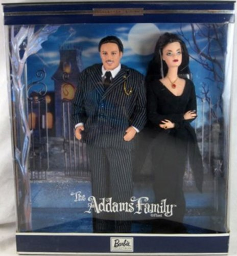 Hot Barbie -The Adams Family Morticia & Gomez Collectable Gift Set 2000