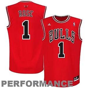 NBA Chicago Bulls Derrick Rose Draft Cap Jersey, Red, Small