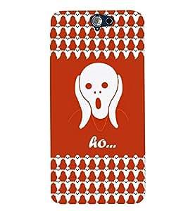 PrintVisa Cute Cartoon Ghost 3D Hard Polycarbonate Designer Back Case Cover for HTC One A9