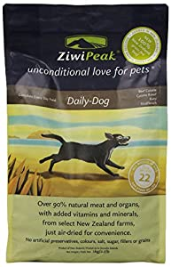Ziwipeak Real Meat Grain Free Air-Dried Dog Food, 2.2-Pound, Beef from Ziwipeak