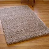 Twilight 39001-6611 Thick Luxurious Shaggy Rug Linen Beige