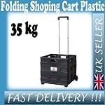 Folding Shopping Cart Plastic Trolley...