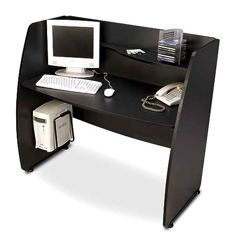 Privacy Computer Desk Color: Graphite with black base