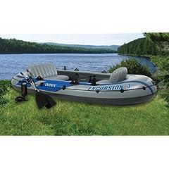Buy NEW INTEX Excursion 4 Inflatable River Lake Raft Set by Intex