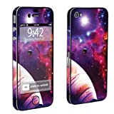 Apple iPhone 4 or 4s Full Body Vinyl Decal Sticker Protection Skin Space By Skinguardz