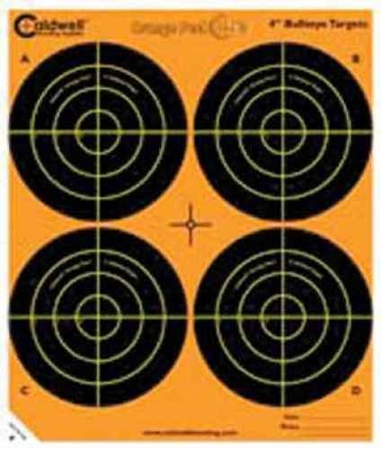 Battenfield Technologies Caldwell Orange Peel Targets 4in Bulls-Eye 5-Sheets/Pack 405515