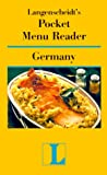 Pocket Menu Reader Germany (Langenscheidt's Pocket Menu Reader) (0887293107) by Langenscheidt