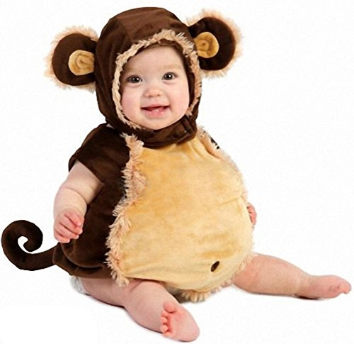 Unisex Infant Baby Toddlers Halloween Cute Monkey Animal Costume (0-3 Months)