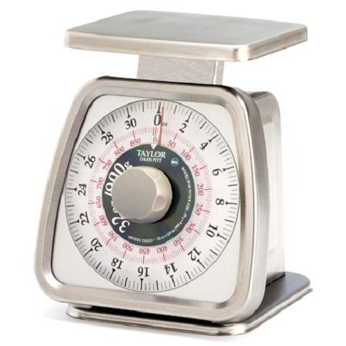 Taylor TS32D Mechanical Portion Control Scale with Dashpot, NSF - (32 oz /900 g) (Taylor 900 compare prices)