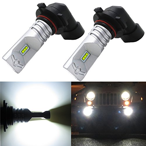 Alla Lighting High Power CSP SMD H10 9145 Extremely Super Bright 6000K Xenon White LED Lights Bulbs Best for Replacing Fog Light Lamps (Driving Light Socket compare prices)