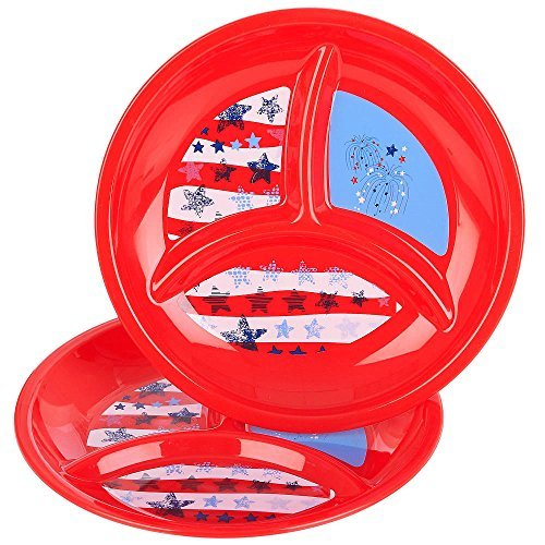 Babies R Us - Reusables - Patriotic Divided Plates 2 Pack - 1