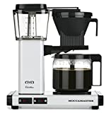 Technivorm-Moccamaster KBG 741 10-Cup Coffee Brewer with Glass Carafe, White Metallic