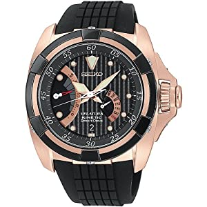 Seiko Men's SRH006 Black Dial Watch