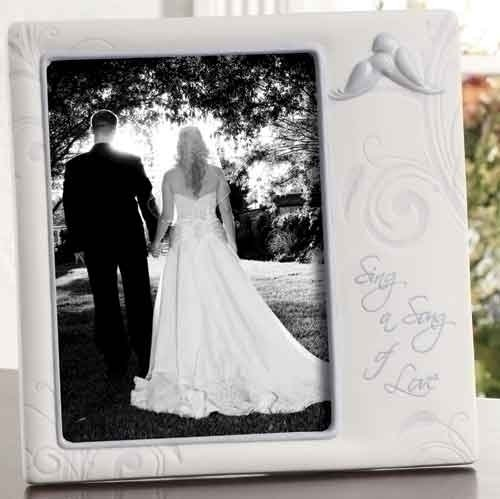 "8"" Wedding Frame Holds 5X7 Sing A Song Of Love by Roman"