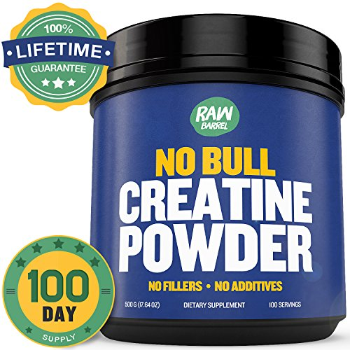 Raw Barrel's - Pure Creatine Monohydrate Powder - Unflavored and Micronized - SEE RESULTS OR YOUR MONEY BACK - 500g - with *FREE* digital guide (Customer Factory Blueprint compare prices)