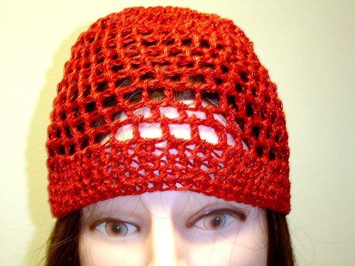 Cp107, Hand Crocheted Red Metallic Gimp Skull Cap for Men Women and Teens - Buy Cp107, Hand Crocheted Red Metallic Gimp Skull Cap for Men Women and Teens - Purchase Cp107, Hand Crocheted Red Metallic Gimp Skull Cap for Men Women and Teens (Gita, Gita Hats, Womens Gita Hats, Apparel, Departments, Accessories, Women's Accessories, Hats)