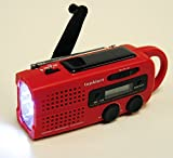 topAlert MD-019 Emergency Solar Hand Crank Weather Alert Radio