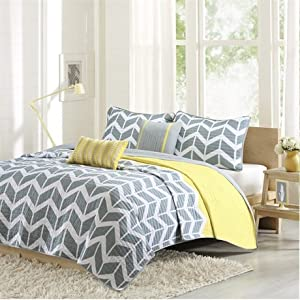 Intelligent Design Nadia Coverlet Set - Yellow - King/Cal King