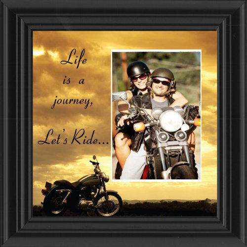 Motorcycle, Harley Davidson, Picture Frame, Let's Ride Sky 6503LRSKY Personalized