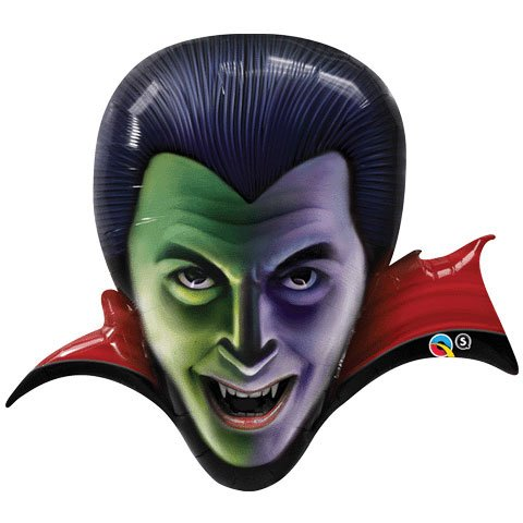 "36"" Count Dracula Helium Shape Qualatex Balloons - 1"