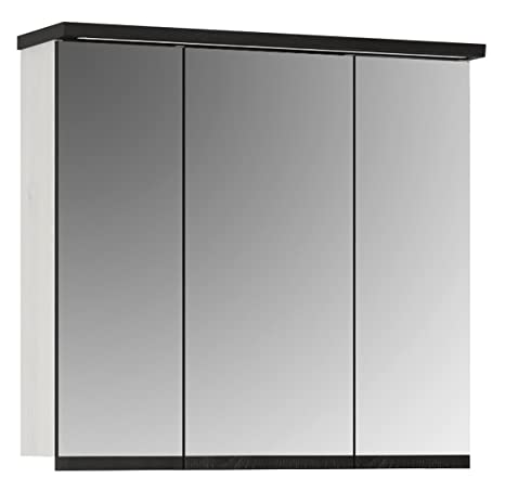 Furniture To Go Provence Mioor Wall Cabinet 3 doors, Wood, Whitewash Larch Finish/Dark Chocolate