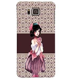Fuson 3D Printed Girly Designer back case cover for Samsung Galaxy Alpha G850 - D4363