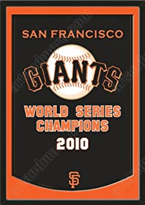 Dynasty Banner Of San Francisco Giants With Team Color Double Matting-Framed Awesome... by Art and More, Davenport, IA
