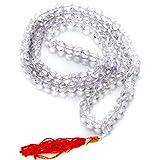 Ankita Gemstones Sphatik/Crystal Mala For Jaap Meditation & Undisturbed Sleep Real Septik Beads Mala