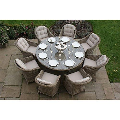Dorset Rattan Gartenmöbel-Set für 8 Personen, rund