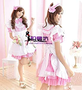 Amazon.com: Gothic Pink French Maid Costume Naughty