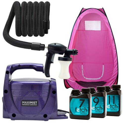 Amethyst Maxi Mist Xl Hvlp Spray Indoor Tanning Fetch Dha Pink Tan Tent Kit 1A front-771044