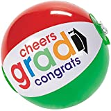 """Inflatable Mini Bright """"Cheers To The Grad"""" Beach Balls (12 Pack) 7"""""""