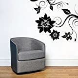 Decal Style Corner Swirl Wall Sticker Large Size-34*29 Inch